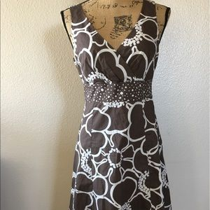 Boden brown patterned sleeveless dress